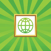 Globe afbeeldingspictogram — Stockvector