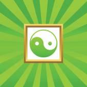 Ying yang afbeeldingspictogram — Stockvector