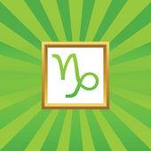 Capricorn picture icon — Stock Vector