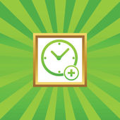 Zeit-Bild-Symbol hinzufügen — Stockvektor