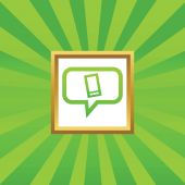 Smartphone message picture icon — Stock Vector