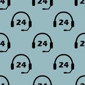 Wzór blady niebieski obsługa 24 — Wektor stockowy