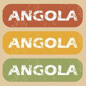 Винтажные Анголы штамп комплект — Cтоковый вектор