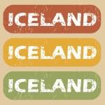 Vintage Iceland stamp set — Stock Vector #78960242