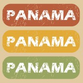 Vintage Panama stamp set — Stock Vector