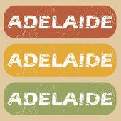 Insieme del bollo dell'annata Adelaide — Vettoriale Stock