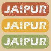 Vintage Jaipur stamp set — Stock Vector