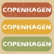 Vintage Copenhagen stamp set — Stock Vector #79174038