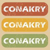 Insieme del bollo dell'annata Conakry — Vettoriale Stock