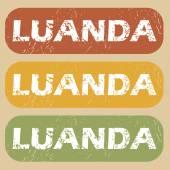 Vintage zestaw znaczków Luanda — Wektor stockowy