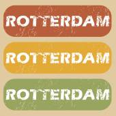 Vintage Rotterdam stamp set — Stock Vector
