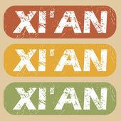 Vintage Xi een stempel instellen — Stockvector