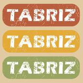 Vintage Tabriz stamp set — Stock Vector