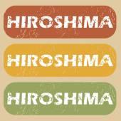 Jahrgang Hiroshima-Stempel-Satz — Stockvektor