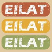 Vintage Eilat Pul Seti — Stok Vektör