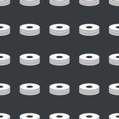 Düz siyah disk kazık desen — Stok Vektör