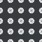 Wzór prosty czarny koszykówki — Wektor stockowy