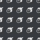 Straight black burning time pattern — Stock Vector