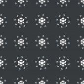 Vzor rovné černé vločky — Stock vektor