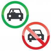 Car permission signs set — Stock Vector