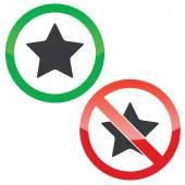 Star permission signs set — Stock Vector