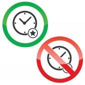 Autorisation de temps meilleure signes ensemble — Vecteur