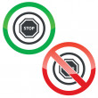 STOP permission signs — Stock Vector #79949022