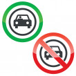 Car permission signs — Stock Vector #79946744