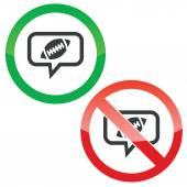 橄榄球消息许可标志 — 图库矢量图片
