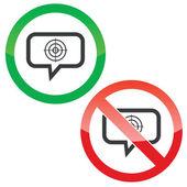 Panneaux à but message permission — Vecteur