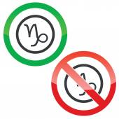 Capricorn permission signs — Stock Vector