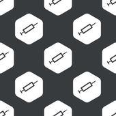 Black hexagon syringe pattern — Stock Vector