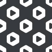 Padrão de jogo hexágono preto — Vetor de Stock