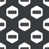 Black hexagon full battery pattern — Stock Vector