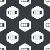 Black hexagon low battery pattern — Stock Vector