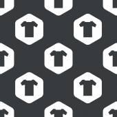 Schwarze Sechskant T-shirt Muster — Stockvektor