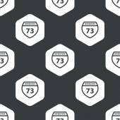 Black hexagon Interstate 73 pattern — Stock Vector