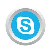 Skype social logo — Stock Vector