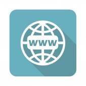 Ícone de rede global, quadrado — Vetor de Stock