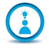 Idee pictogram, blauw, 3d — Stockvector