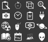 Science icon set 3, monochrome — Stock Vector