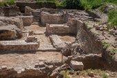 Escavações arqueológicas do antigo templo na rússia — Foto Stock