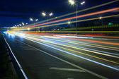 Noc autostrady — Zdjęcie stockowe
