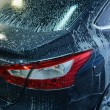 Car in penalty fee on car wash — Stock Photo #53029079