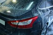 Car in penalty fee on car wash — Stock Photo
