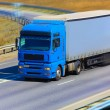 Truck moves on highway — Stock Photo #53861137
