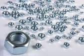 Metal shine nuts  — Stock Photo