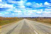 Landscape with road and sky — Stock Photo