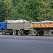 Dump truck with  trailer — Stock Photo #62613295