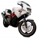 motorcycle on white background — Stock Photo #62718995